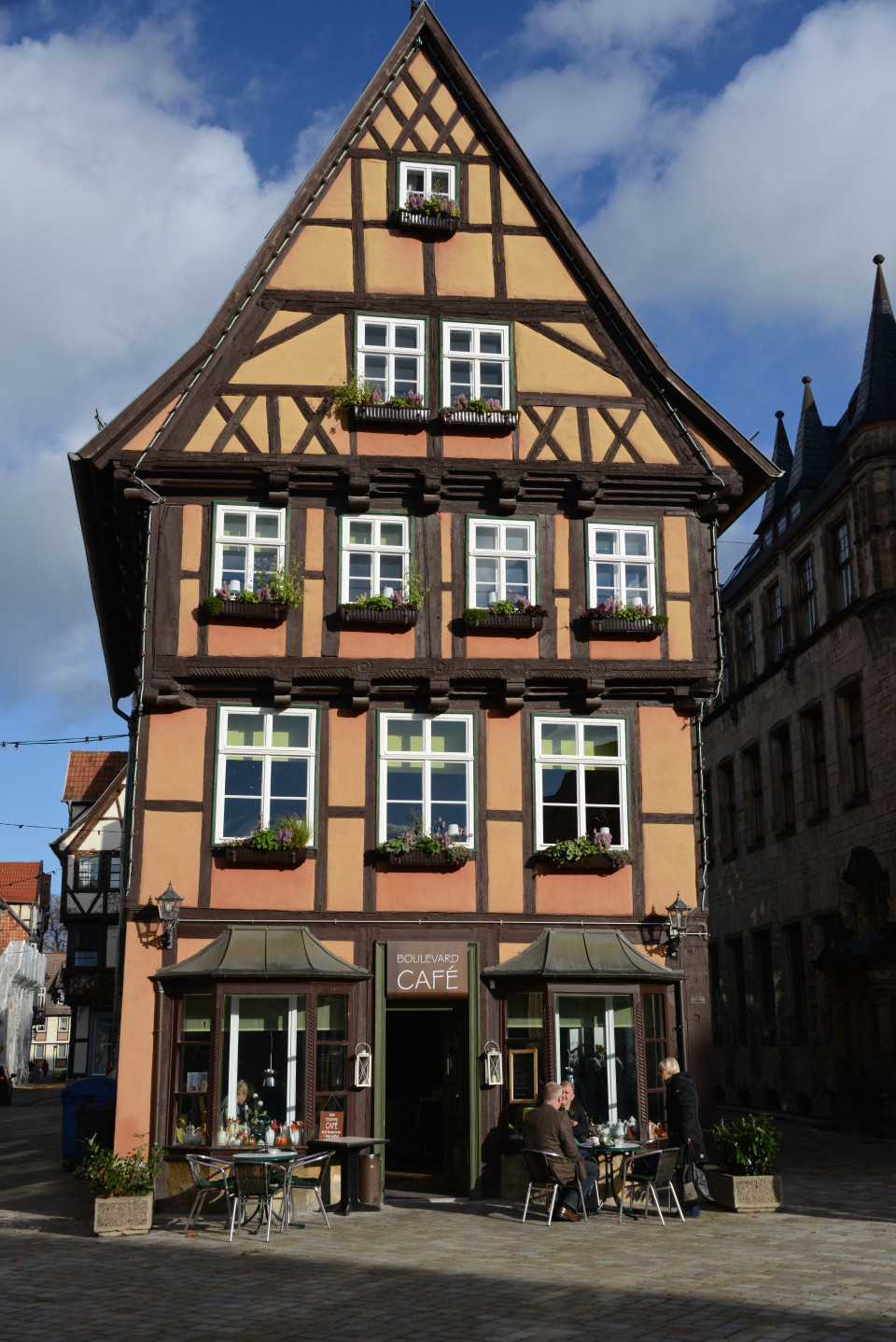The half-timbered houses of Quedlinburg.